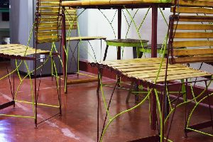 Bamboo Dining Table Set