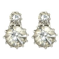 Queen Victoria Two Stone Stud Earrings