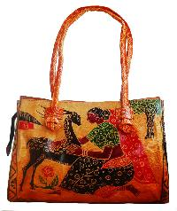 leather shantiniketan bags