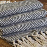 Cotton Herring Bone Blanket