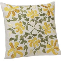 Embroidered Flowers Cushion Covers