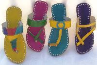 Trendy Hand Sewn Leather Slip On