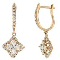 Diamond Dangle Earring (cwdde206)