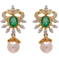 Diamond Gemstone Earring (cwdge203)