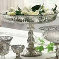 Antique Mercury Glass Tableware