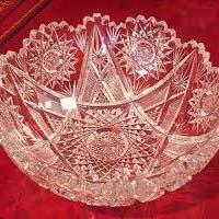 Clear Cut Glass Bowls