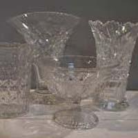 Clear Cut Glass Tableware