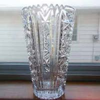 Clear Cut Glass Vases