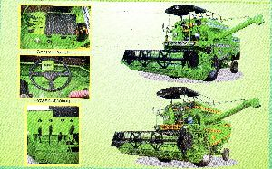 Satnam 952 Self Propelled Wheel Combine Harvester