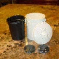 Zinc Metal Kitchen Compost Pail