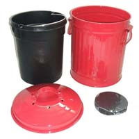 Zinc Metal Kitchen Food Waster Collection Buckets