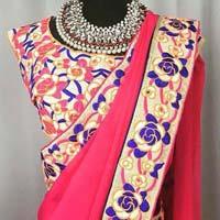 kutch work saree