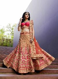 Splendid Satin Embroidered Work  Lehenga Choli