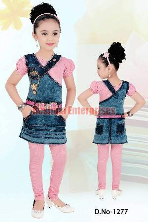 denim middy with legging and inner