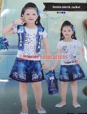 denim skirt with jacket and inner