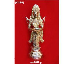 Brass Lady Statues