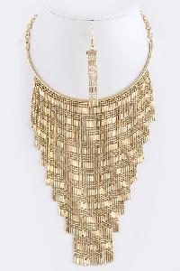 Fringe Necklace Set
