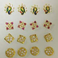 Gold cz  Nose Pins
