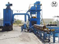 Auto Centrifugal Pipe Airless Shot Blasting Machine