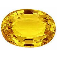 Synthetic Yellow Sapphire Stone
