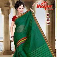 Mercerised Plain Cotton Sarees