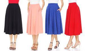 Ladies Knee Length Skirts