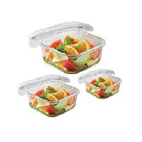 Square Dish With Lid Set