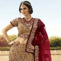 Captivate Cut Work Net Kasab A - Line Lehenga Choli