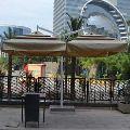 One Pole Twin Garden Umbrellas