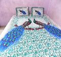 printed king size bedsheet with two pillow cover