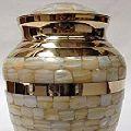 Metal Brass M O P Cremation Urn