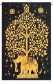 Tree Elephant Mandala Design Tapestry