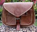 flap leather school satchel