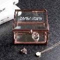 Metal jewelry storage box
