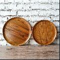 round wooden Serving trays