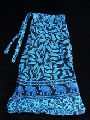 HIPPIE ETHNIC INDIAN COTTON HAND BLOCK PRINT WRAP AROUND SARONG Blue SKIRT
