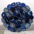 Blue Marble Natural Agate Table Top