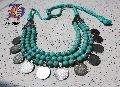 Marble Beaded Coin Necklace
