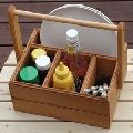 WOODEN PICNIC CADDY