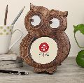 Handmade Owl Shaped Wooden Photo Picture Frame
