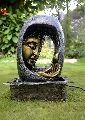 Multicolor Light Buddha Face Water Fountain