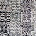 weave cotton block printed rug carpet