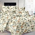 Dyeing Mills Floral Cotton Double Bedsheet