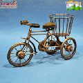 Copper coated wrought iron bicycle plant stand