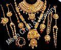 Kundan and ruby stone necklace set