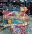 Cotton Printed Vintage Kantha Quilt