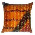 Kantha Silk Cushion Cover