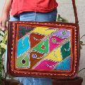 Full Flap Embroidery Messenger Bag