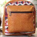 Vintage Jacquard Backpack Bag