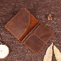 Tanned VT Leather Passport Holder Wallet